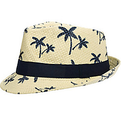 Palm Tree Straw Fedora
