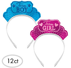 Girl or Boy Gender Reveal Tiaras 12ct