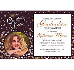 Custom Congrats Graduation Photo Invitation