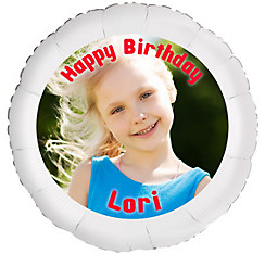 Custom Girl Birthday Photo Balloon