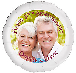 Custom 50th Anniversary Photo Balloon