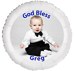 Custom Boy Baptism Photo Balloon
