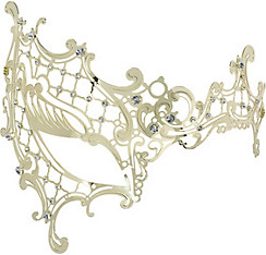 Gold Filigree Half Mask
