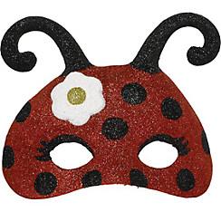 Child Glitter Ladybug Mask