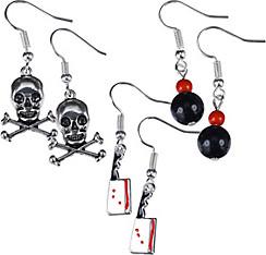 Cleaver & Crossbones Halloween Earrings Set 6pc