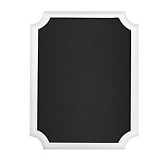 White Border Chalkboard Easel Sign