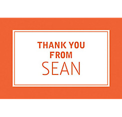 Custom Classic Orange Graduation Thank You Note
