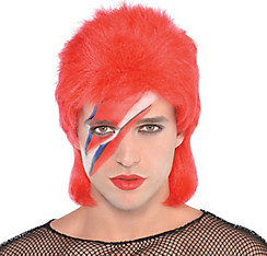 Red Mullet Wig