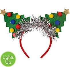 Light-Up Christmas Tree Headband