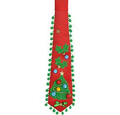 Red Christmas Tree Tie