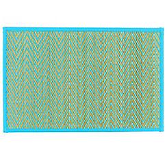Caribbean Blue Chevron Bamboo Placemat