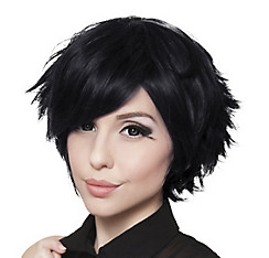 Short Black Cosplay Wig