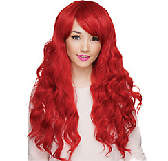 Curly Crimson Red Cosplay Wig