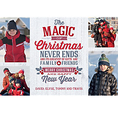 Custom The Magic of Christmas Collage Photo Card