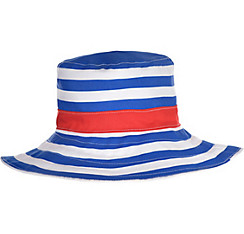 Blue & White Striped Bucket Hat