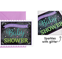 Premium Chalkboard Baby Shower Invitations 8ct