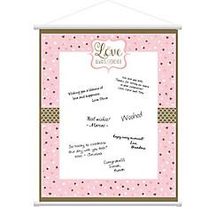 Sparkling Pink Wedding Sign-In Sheet
