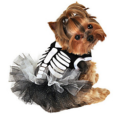 Heart Skeleton Dog Tutu Dress