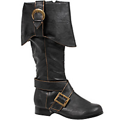 Adult Black Pirate Boots