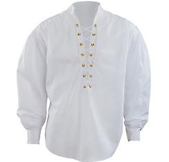 White Lace-Up Pirate Shirt