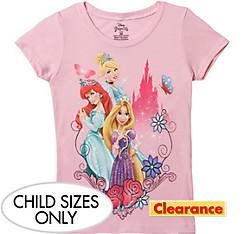Child Pink Disney Princess T-Shirt