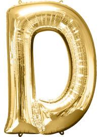 giant gold letter d balloon