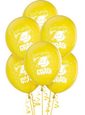 Yellow Latex Graduation Balloons 12in 15ct