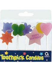 Birthday Shapes Toothpick Candles 7ct