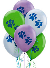Latex Party Pups Birthday Balloons 12in 6ct