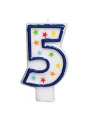 Number 5 Birthday Candle 3in