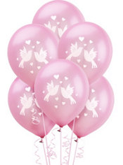 Wedding Wishes Bridal Shower Latex Balloons 12in 15ct