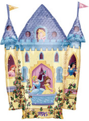 Foil Castle Disney Princess Birthday Balloon 35in