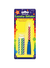 Musical Birthday Candle Holder with Candles 7pc