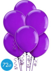 Purple Amethyst Latex Balloons 12in 72ct