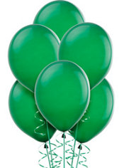 Forest Green Latex Balloons 12in 72ct