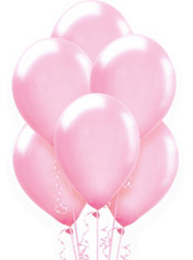 Pink Pearlized Latex Balloons 12in 72ct
