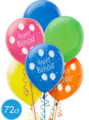 Balloon Fun Happy Birthday Balloons 72ct