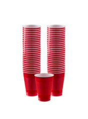 Red Plastic Cups 50ct