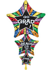 Star Stacker Graduation Balloon 42in