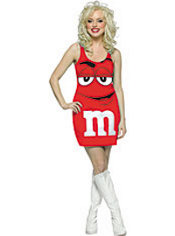 Adult Red M&M Dress Costume