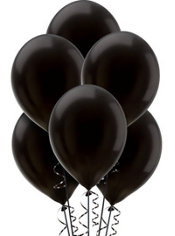 Black Pearlized Latex Balloons 12in 10ct