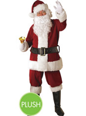 Adult Crimson Regency Plush Santa Suit