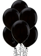Black Latex Balloons 12in 100ct
