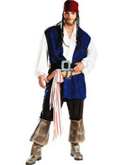 Adult Captain Jack Sparrow Costume Plus Size - Pirates of the Caribbean
