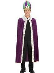Mardi Gras King Crown and Robe Set