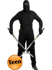 Teen Boys GI Black Ninja Costume