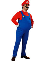 Adult Mario Costume Plus Size Deluxe - Super Mario Brothers