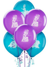 Latex Princess and The Frog Balloons 12in 6ct