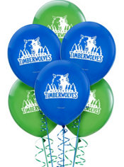 Minnesota Timberwolves Latex Balloon 12in 6ct