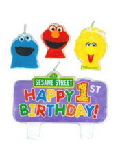 Sesame Street 1st Birthday Candle
